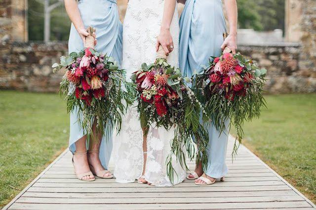 Swallows Nest Farm Protea Banksia Bottlebrush Australian Native Wedding Bouquet Wedding Bridal Bouquets Wedding Flower Inspiration Wedding