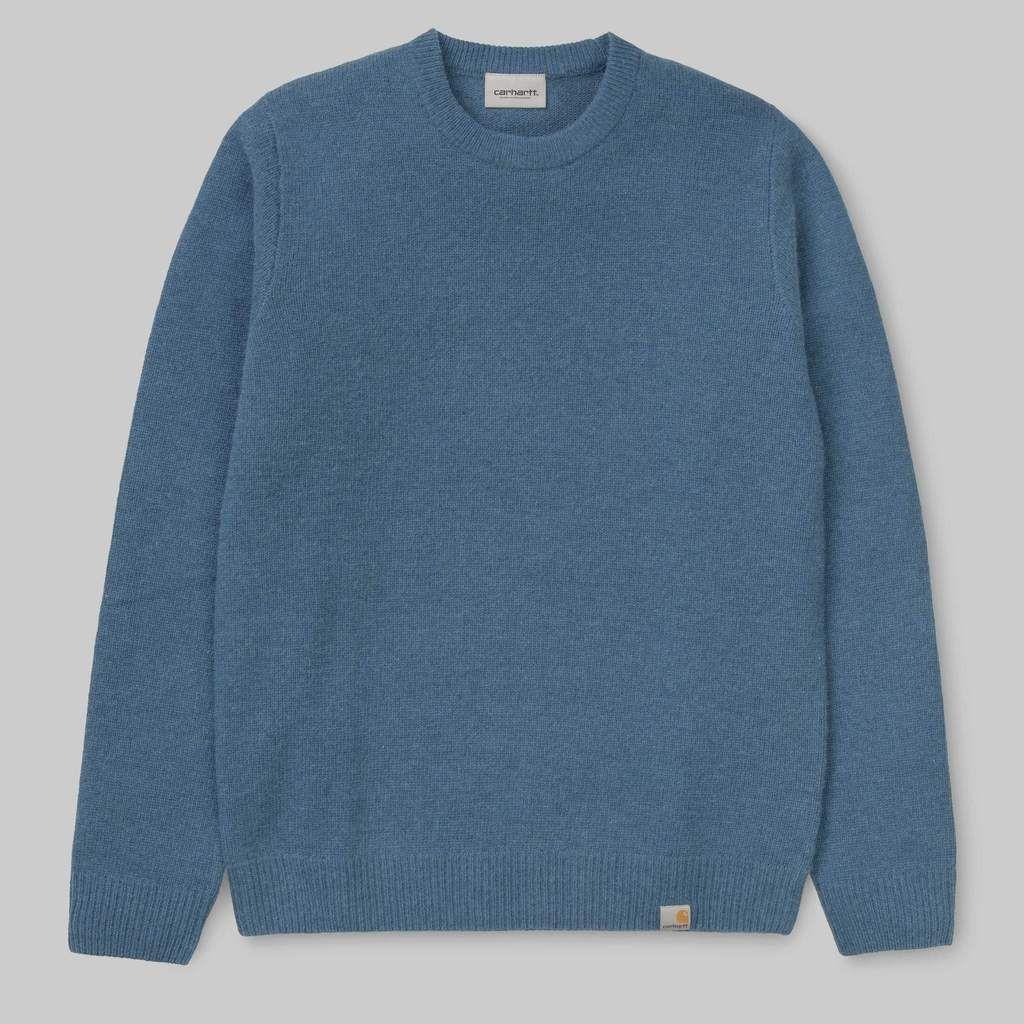 Carhartt Wip Allen Sweater Prussian | Sweaters, Carhartt wip
