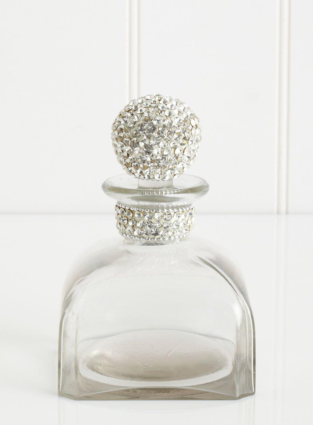 Large Diamante Perfume Bottle Bathroom Decor Bathroom