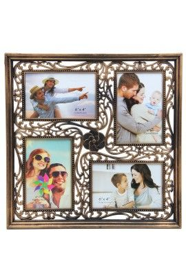 Designer Photo Frame Copper 4 Photos Collage Frame 4 Photos Of 10 15 Cm Photo Frame Design Framed Photo Collage Online Photo Frames
