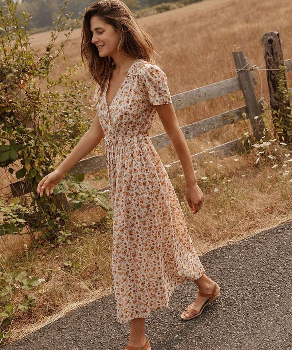 30 Trendy Summer Dress Ideas You Can Wear Now Trendy Dresses Summer Hippie Style Clothing Modest Dresses [ 1229 x 1024 Pixel ]