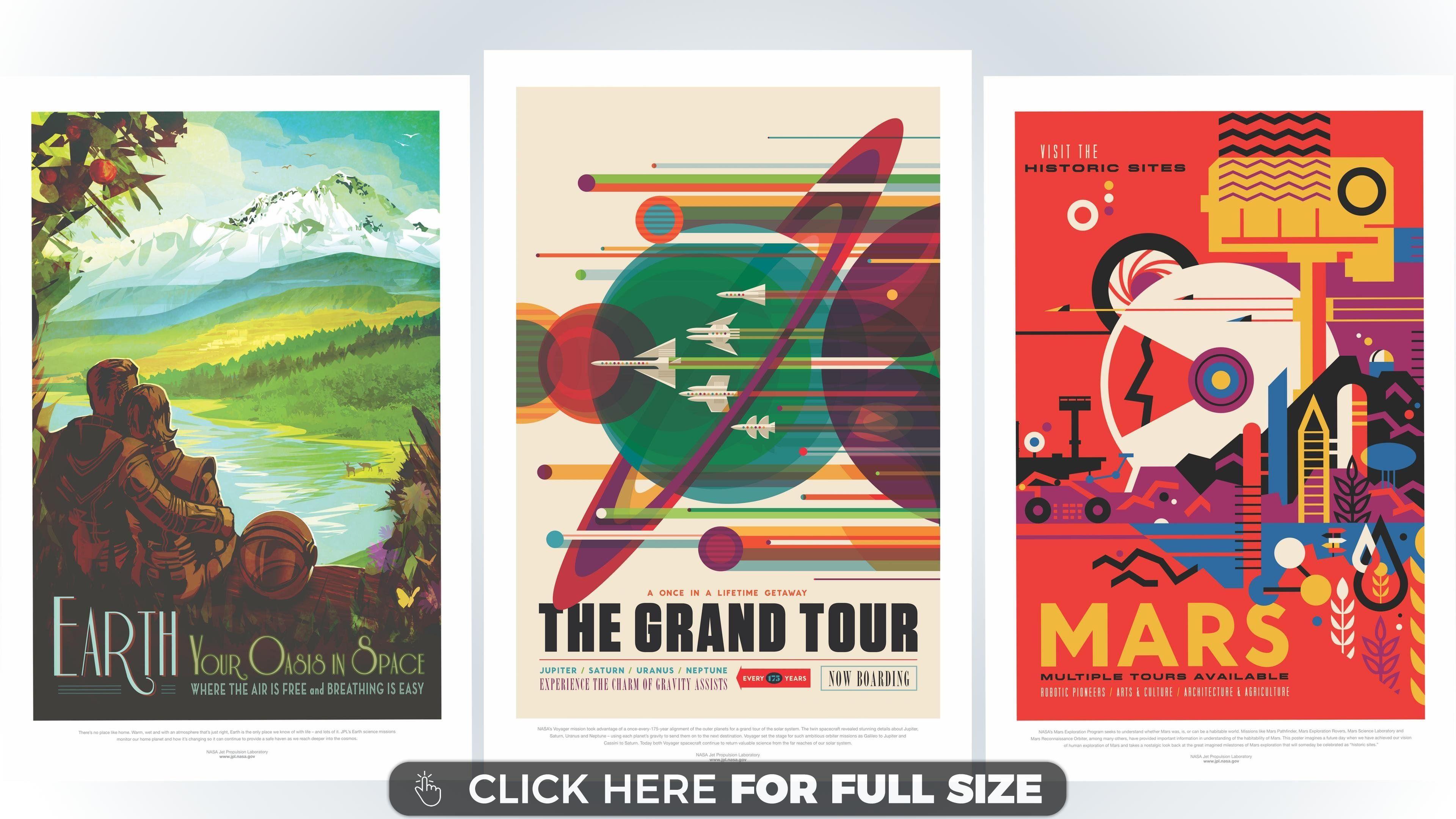 Nasa The Grand Tour Nasa Travel Posters Space Travel Posters Posters Art Prints