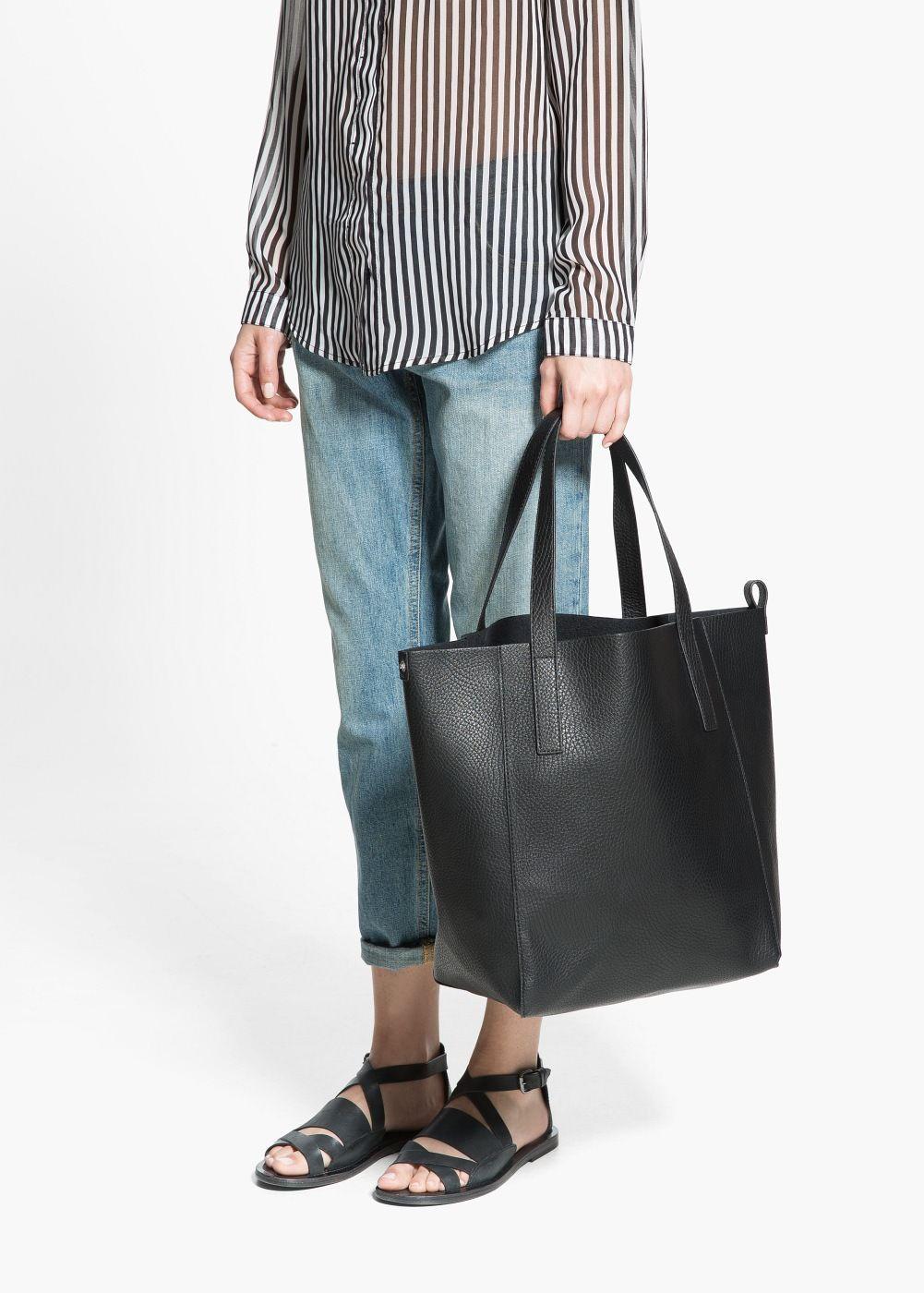 Shopper Tasche Aus Kunstleder Damen Mango Deutschland Shopper Tasche Modestil Taschen