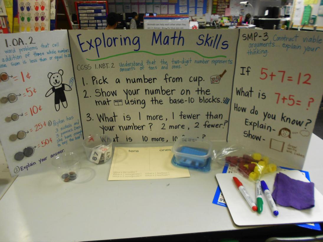 elementary student math project elementary student math