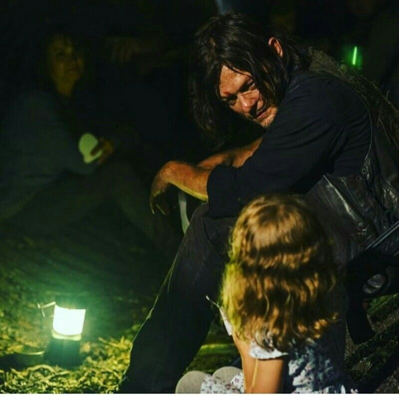 Chandler Riggs And Norman Reedus Gif