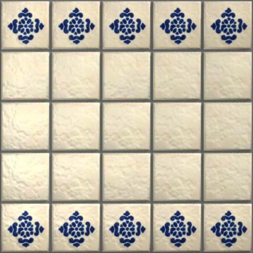 LeMog - 3dTextures - Carrelage Azuleros Bleus 2 - Tiles/311 antigua