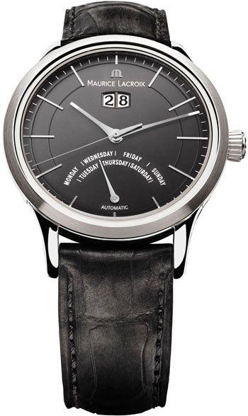 Maurice Lacroix Les Classiques Jours Retrograde Automatic Black Dial Men's Watch LC6358-SS001-33E - Men's Watches - Jomashop