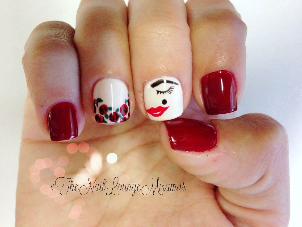 Glamour girl gel nail art