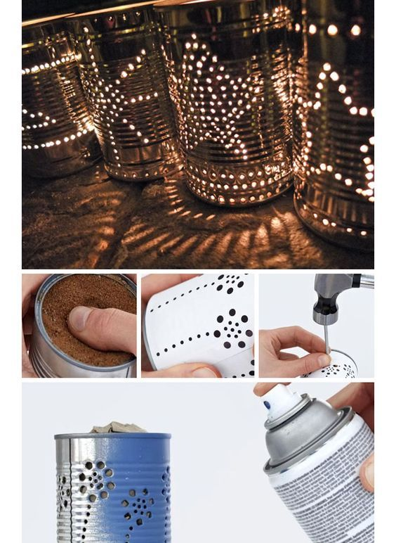 Best 12 Tin Can Lanterns - DIY Outdoor Lighting Ideas - Click for Tutorial