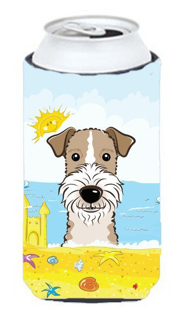 Wire Haired Fox Terrier Summer Beach Tall Boy Koozie Hugger BB2115TBC