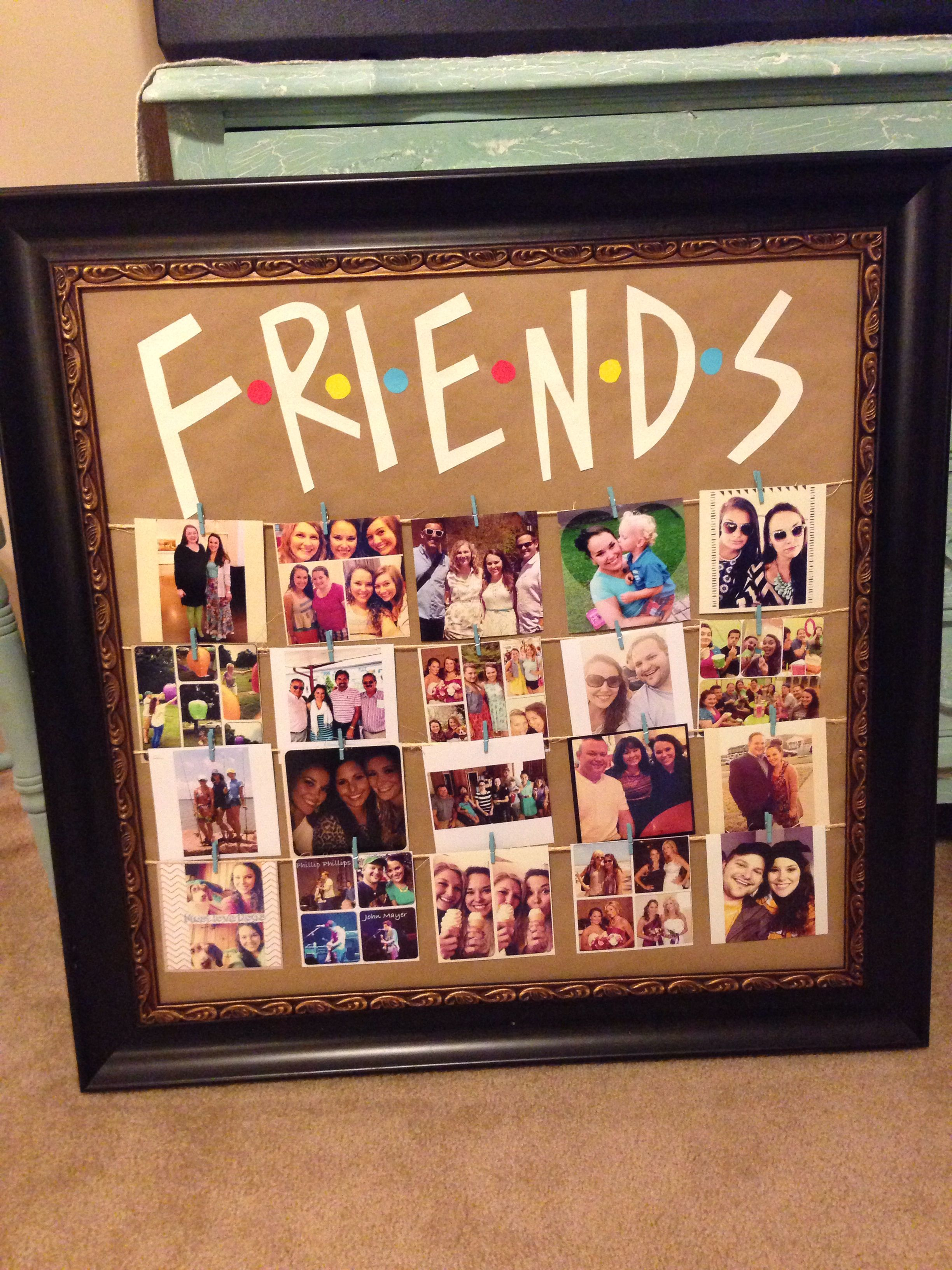 Friends Tv Show Picture Frame Diy Party Ideas Diy Birthday