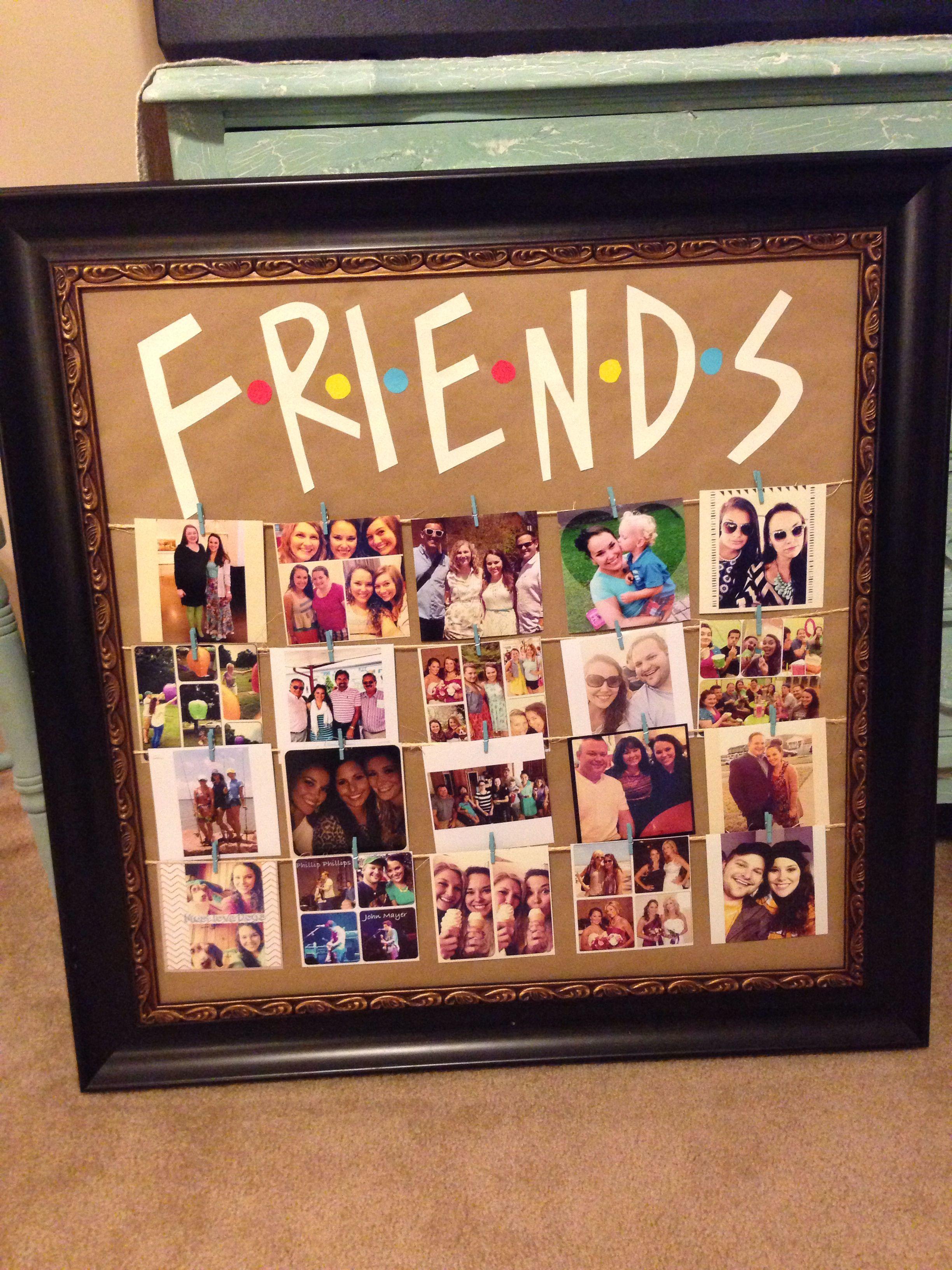 Friends tv show picture frame diy party ideas diy