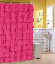Pink Ruffle Curtain Curtains Orange Shower Fabric