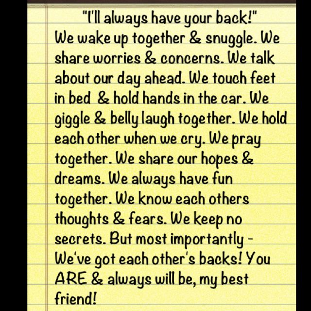 Ill Always Have Your Back Quotes Of Life