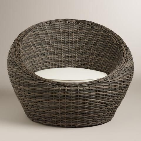 Beautiful All Weather Wicker Formentera Egg Outdoor Chair