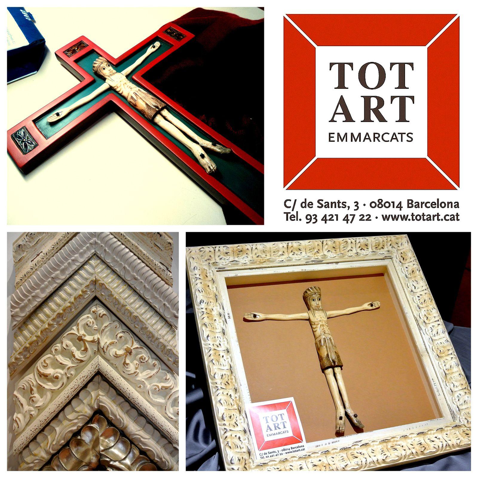 marco para escultura en tienda de enmarcación de barcelona TOTART ...