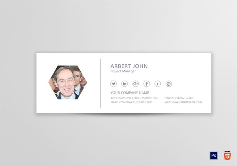 Project Manager Email Signature Template  Email Signature Templates
