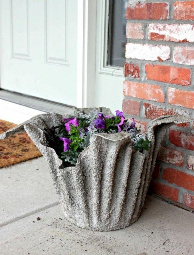 Beton Blumentopf Beton Pinterest Gartendeko aus beton - beton basteln garten