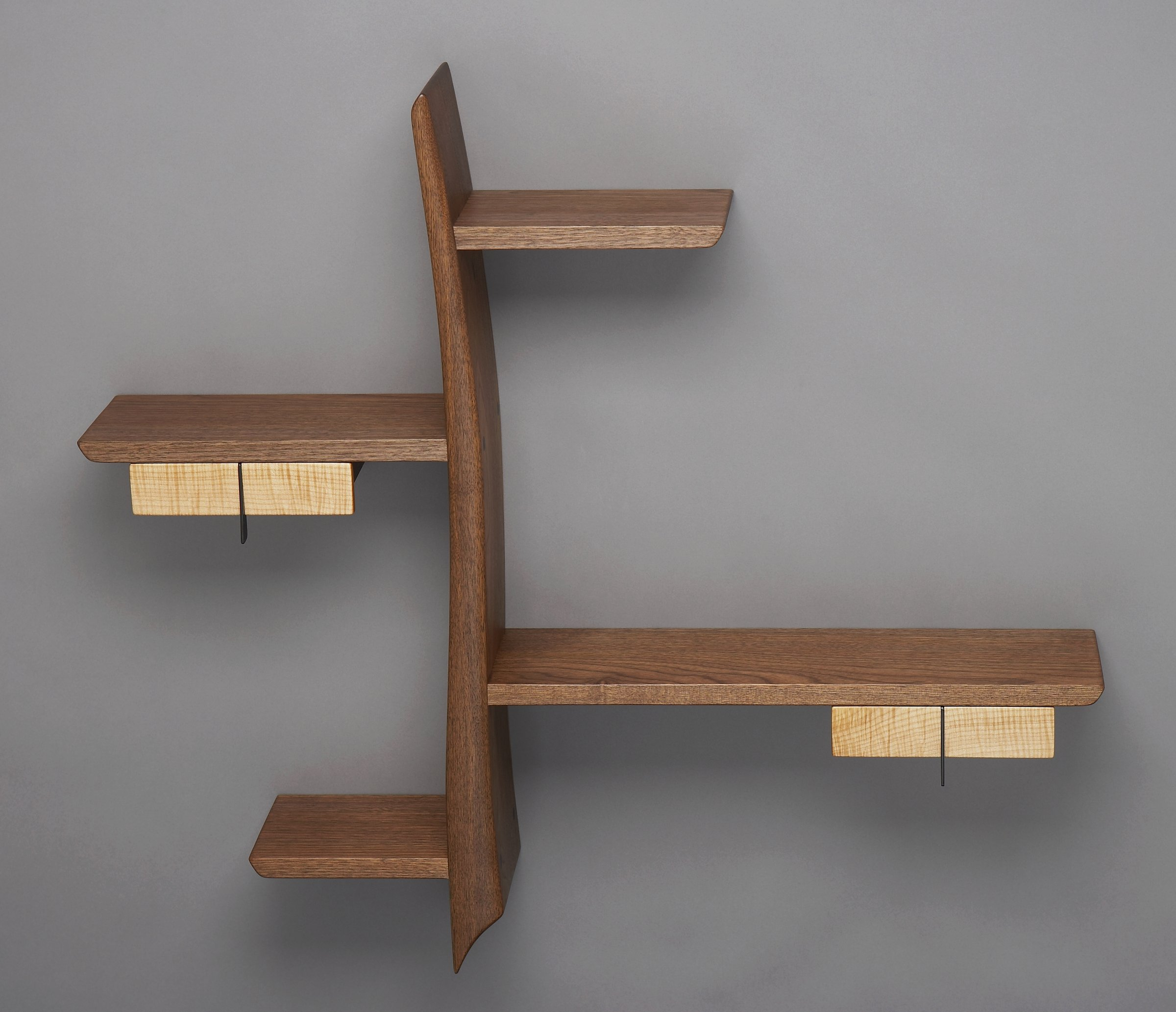 shelf x large corner wall shelves zag beech in veneer zig sizing