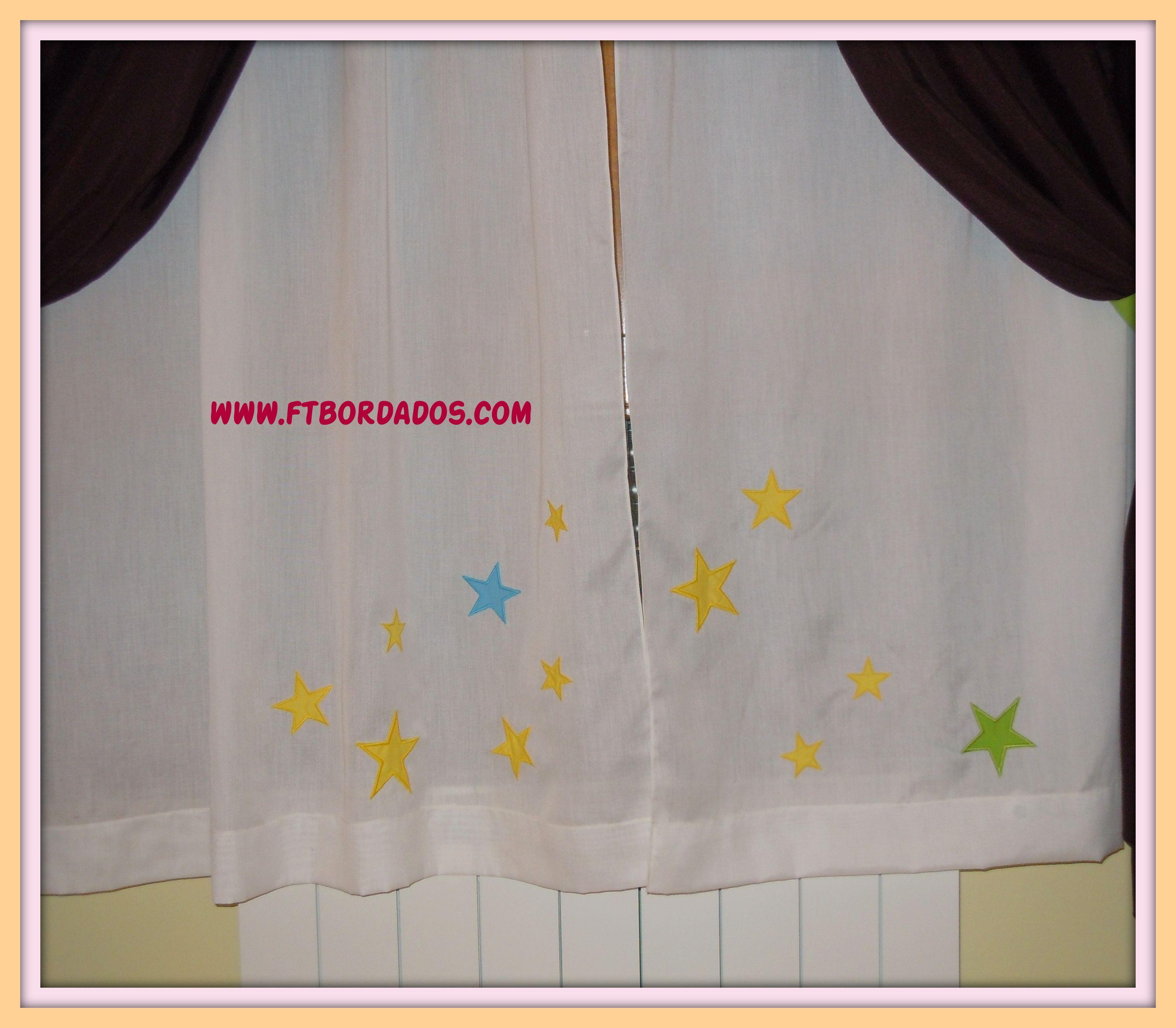 Cortinas personalizadas con apliques de estrellas www - Apliques para cortinas ...