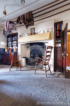Old Irish Cottage House Interior Maybe Incorporating The Rock