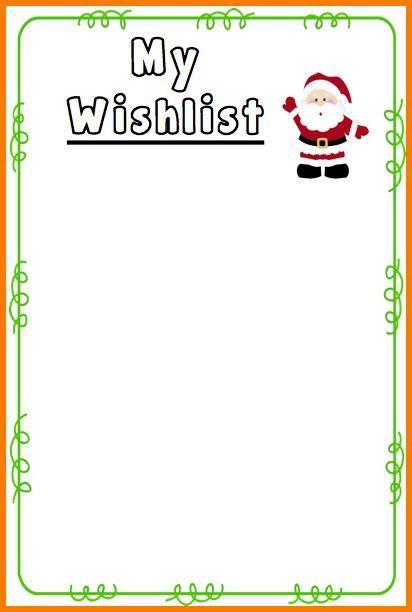 Printable Christmas List Template Image Result For Christmas List Template  Winter Wonderland .