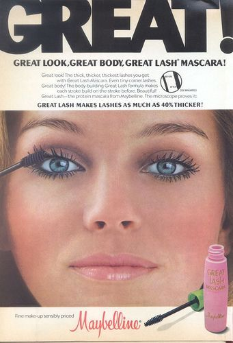 90da00d4636 Maybelline beauty ad circa 1970s. // #Vintage #Beauty How To Apply Mascara
