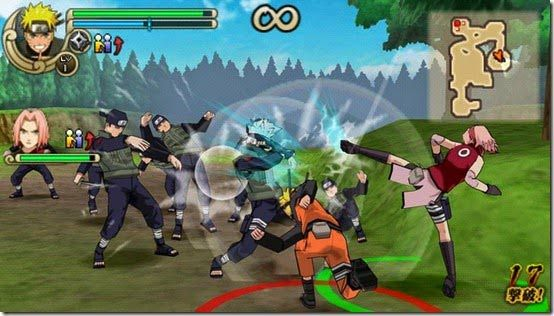 Naruto And Sakura Online Rpg Game Naruto Games Psp Naruto Shippuden