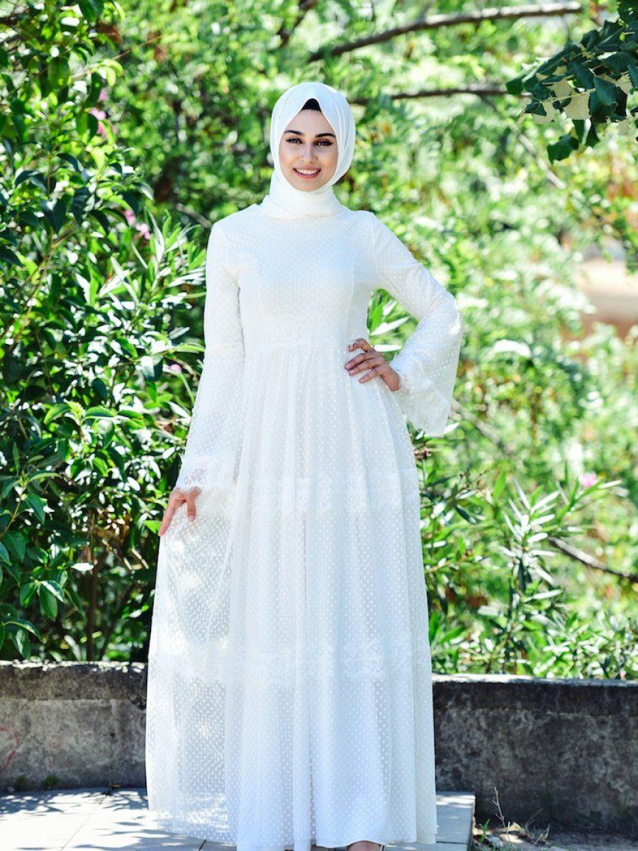 Sefamerve Dantelli Tesettur Tul Elbise Modelleri Elbise Modelleri Elbise The Dress