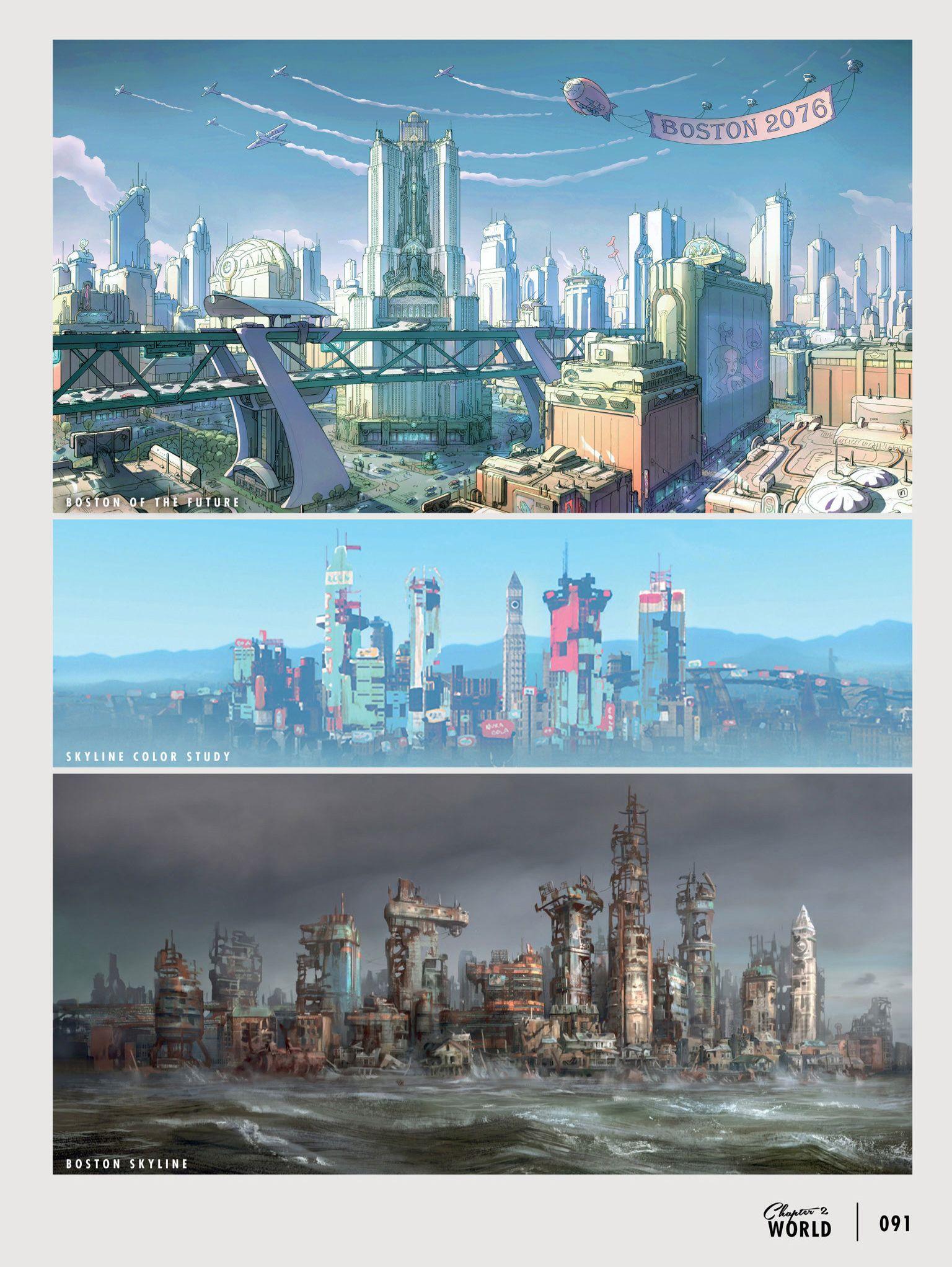Fallout fallout concept art fallout art - Fallout new vegas skyline ...