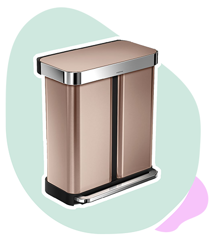 Trash Recycling Bin In Rose Gold Apartment Therapy Top 50