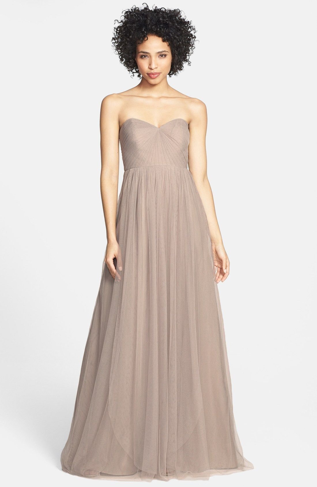 $260 Nordstrom | Jenny Yoo \'Annabelle\' Convertible Tulle Column ...