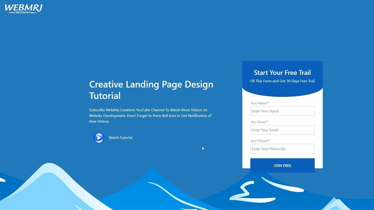 How To Create Website Using Html Css Step By Step Website Developmen Create Website Css Tutorial Website Development