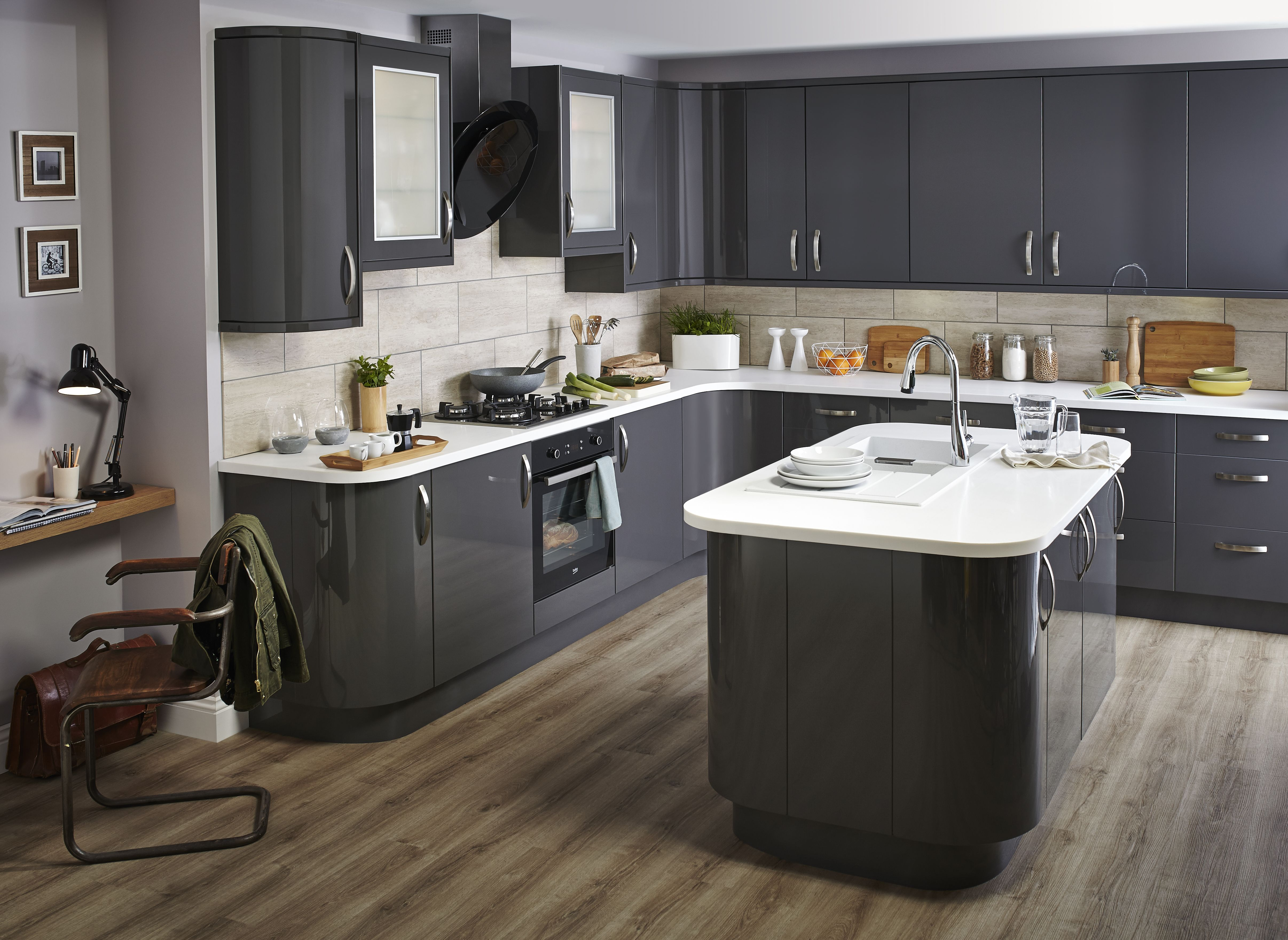 Bq Kitchen For A High Impact Look With Maximum Character Our Santini Gloss