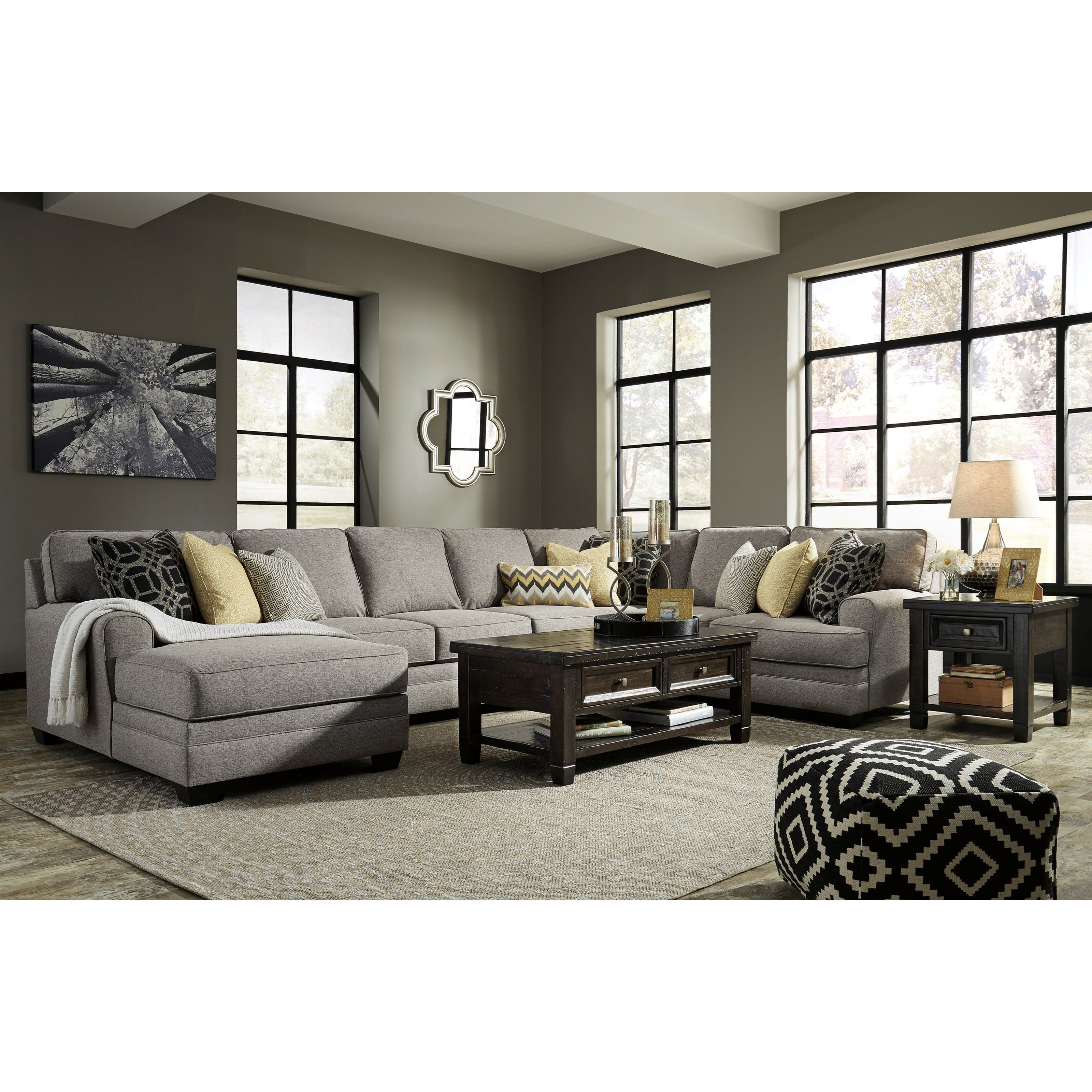 Cresson Contemporary 4 Piece Sectional With Chaise Amp Armless Sofa By Benchcraft In 2020 Cheap