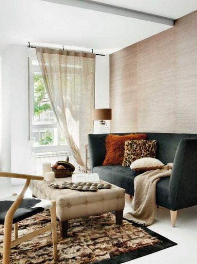 House Grasscloth Wallpaper Burlap Curtains