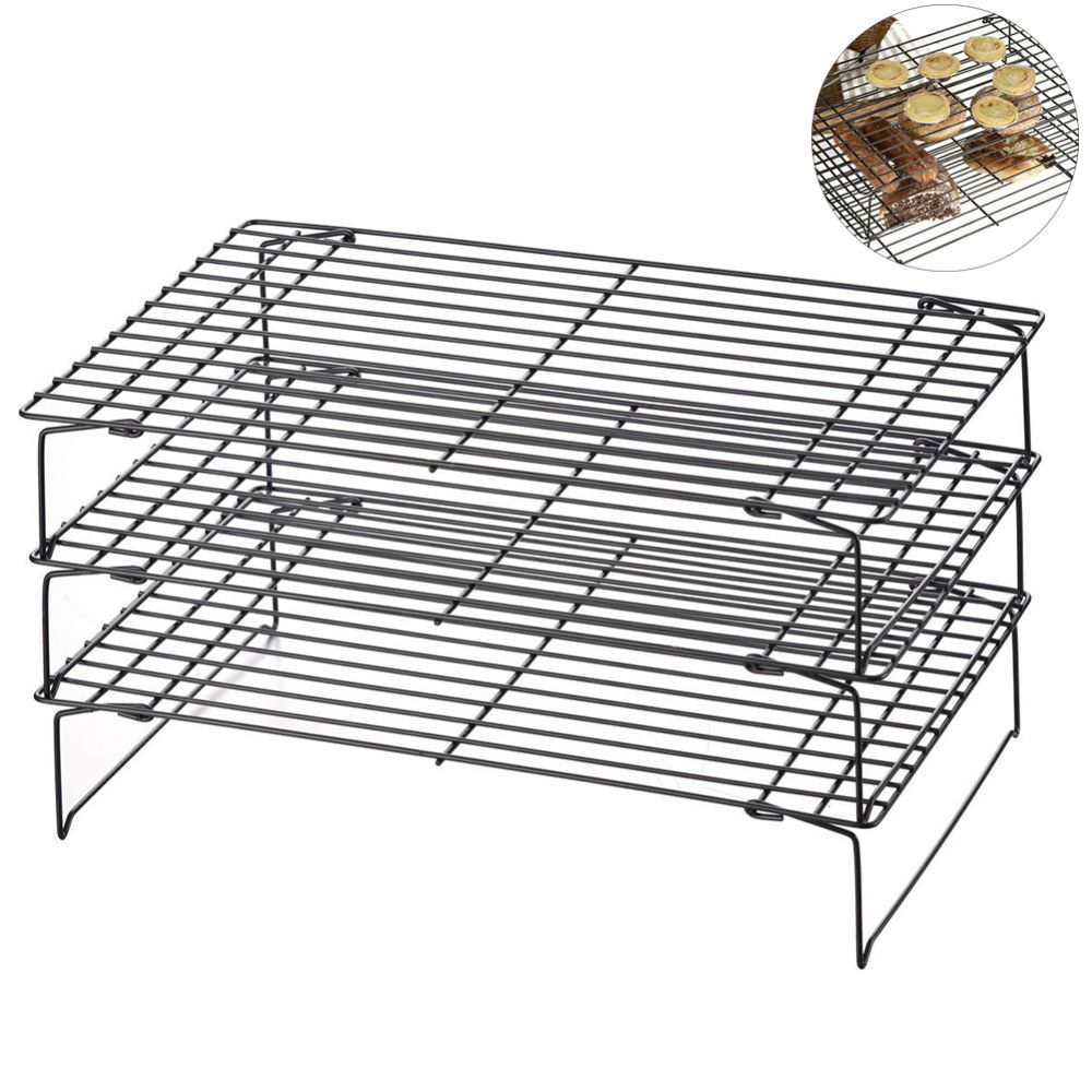 3 Layer Kitchen Baking Tool Cooling Rack Nonstick Drying Stand Foldable Cookies Biscuits Cakes Bread Cool Holder 3 Layer Kitchen Minip Biscuit Cake Baking Tools Biscuits