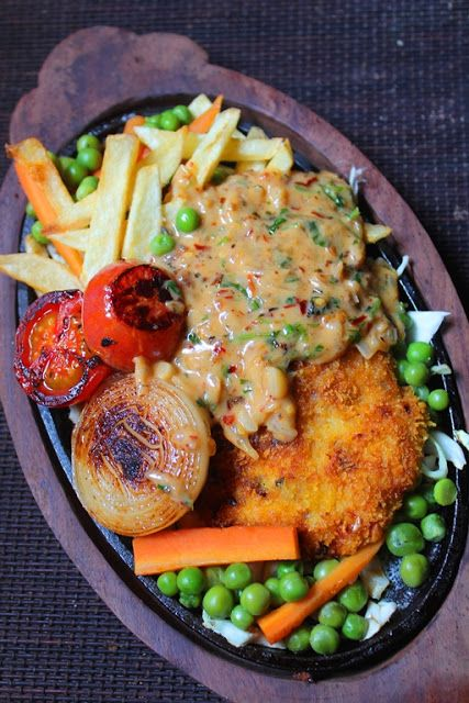 Fried Chicken Sizzler Recipe - Continental Recipes 2 -3141