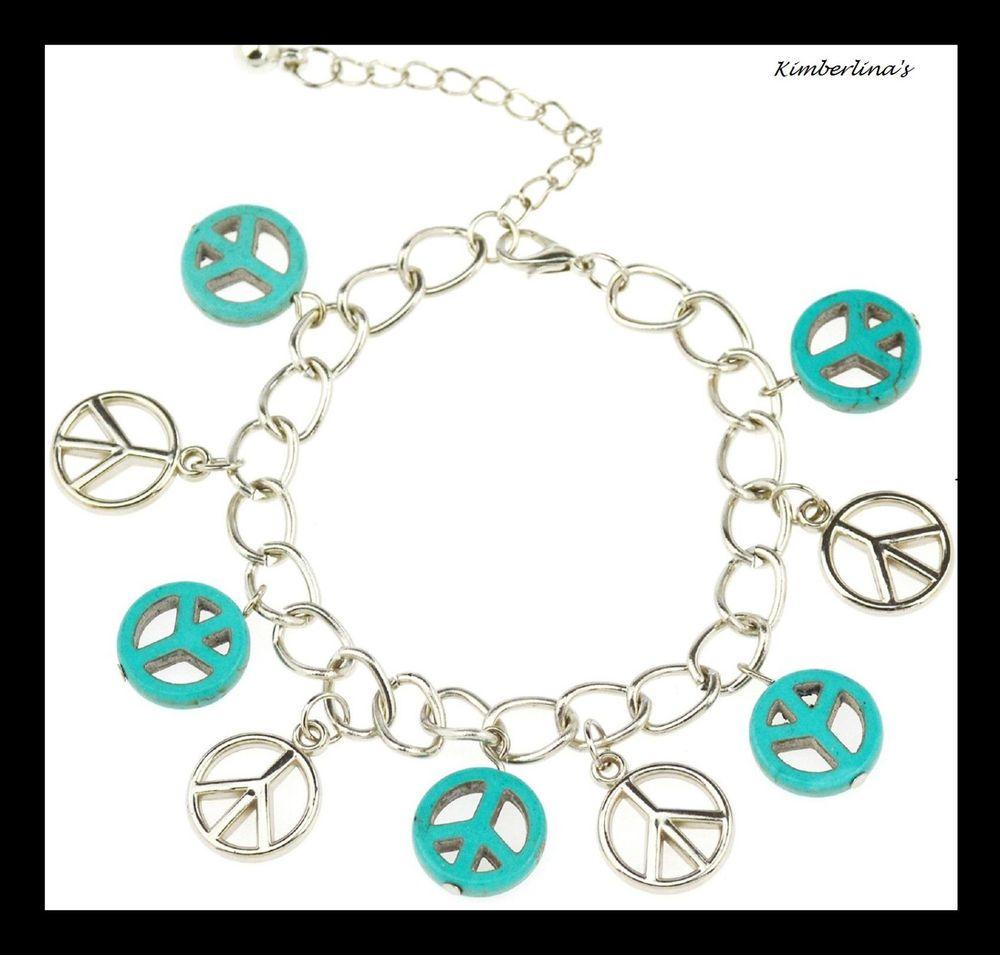 Vintage Turquoises Butterfly Bracelets Charm Bracelet Women's' Fashion Jewelry
