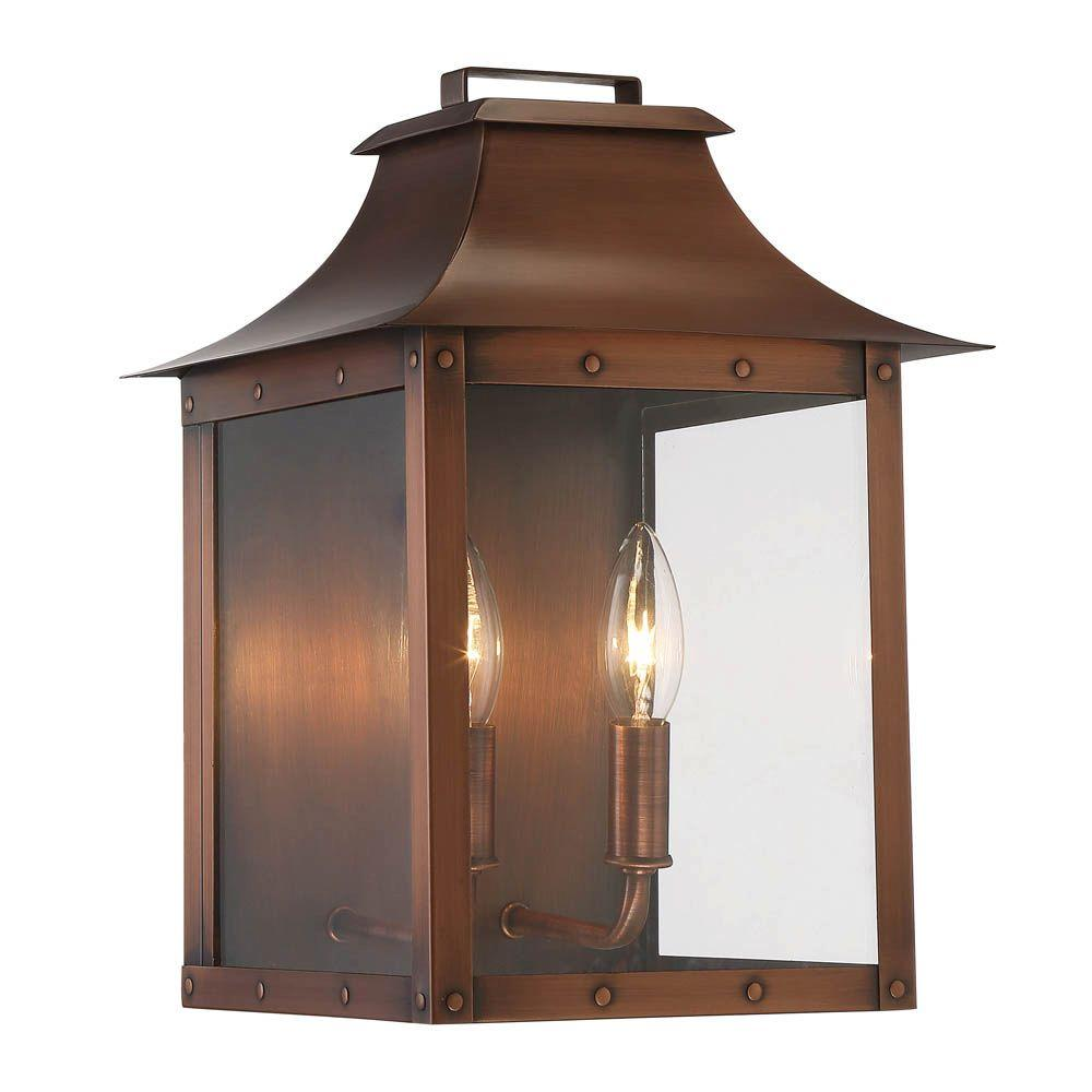 Acclaim Lighting Manchester Collection 2 Light Copper Patina Outdoor Wall Lantern Sconce 8414cp Outdoor Light Fixtures Outdoor Wall Lantern Wall Mount Light Fixture