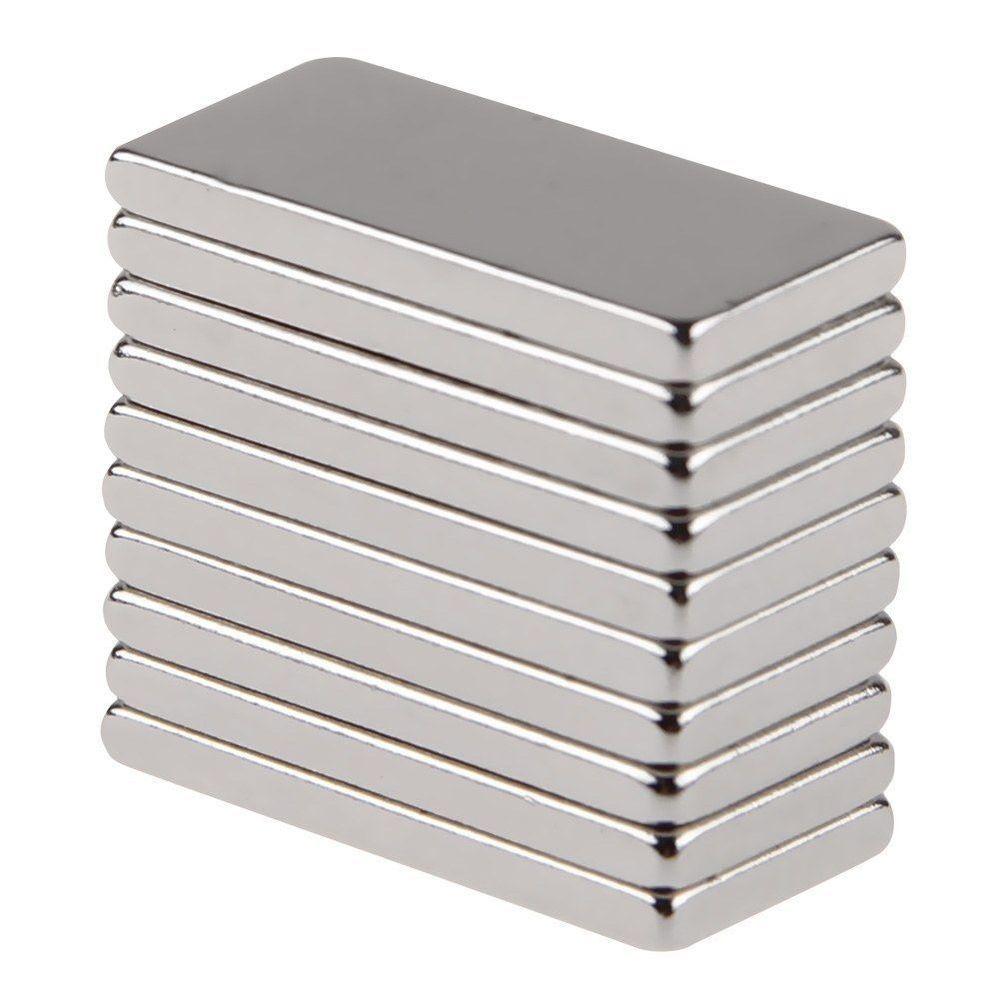 1 50pcs N50 Neodymium Block 20x10x2mm Magnet Super Strong Rare Earth Magnets Magnes