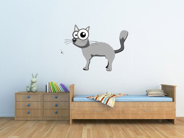 sostick — Chat gris #Stickers #Deco