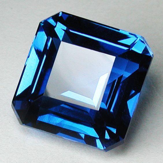 Dark swiss blue topaz Rare