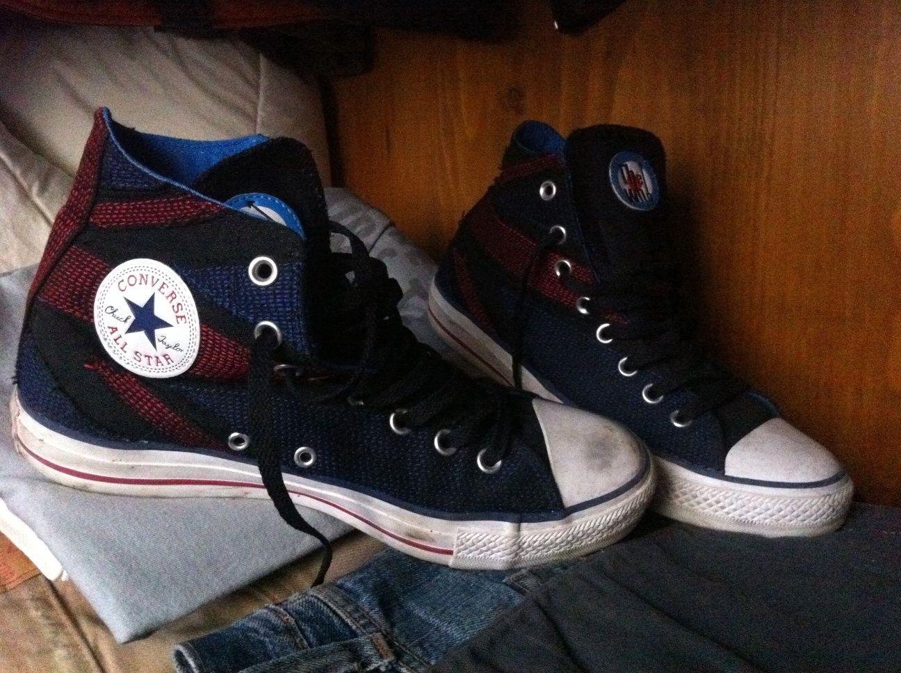 Converse English Flag | Converse chuck taylor high top sneaker ...