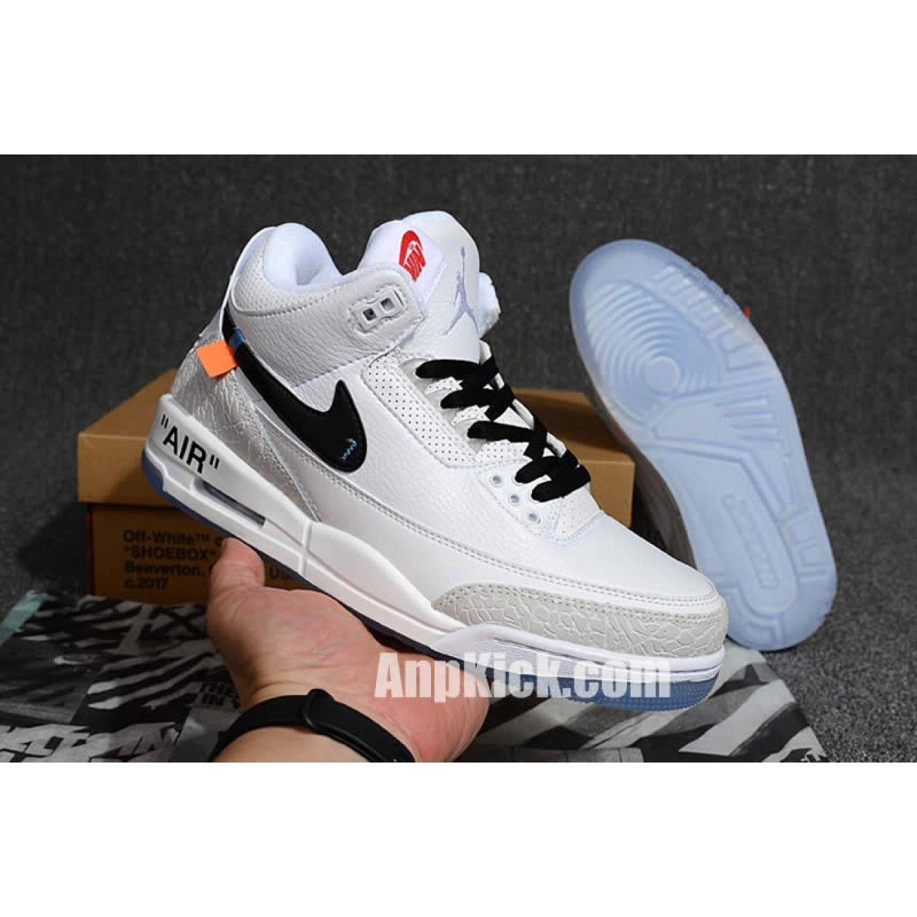 Off White X Air Jordan 3 Og Retro 3s White Cement Custom Jordans
