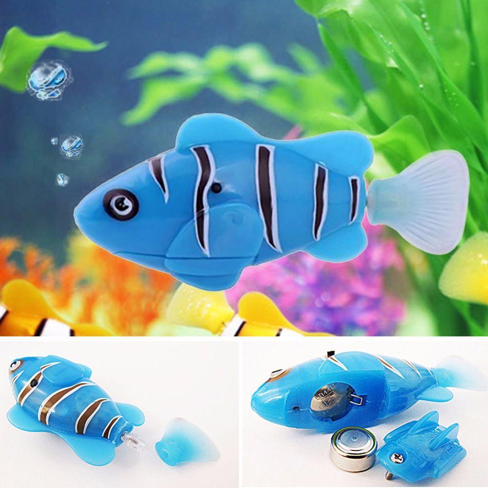 activado con pilas robo robofish peces de juguete peces robotic