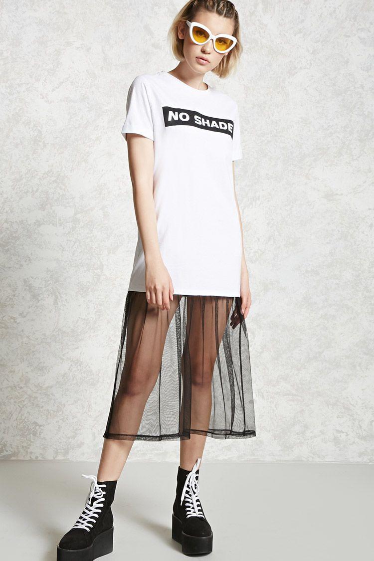 A knit tshirt dress featuring a
