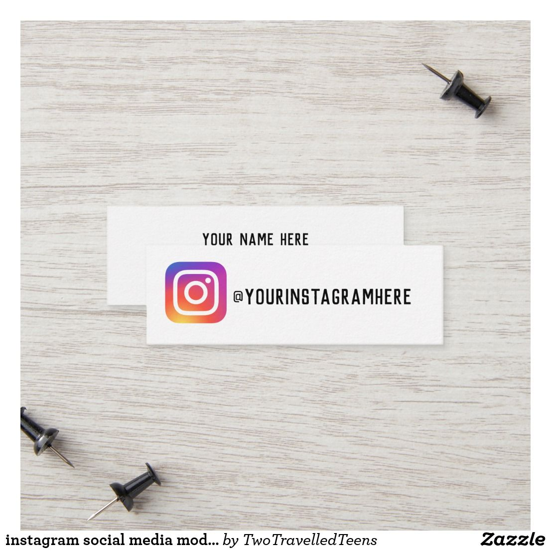 instagram social media modern trendy business card | Zazzle com in