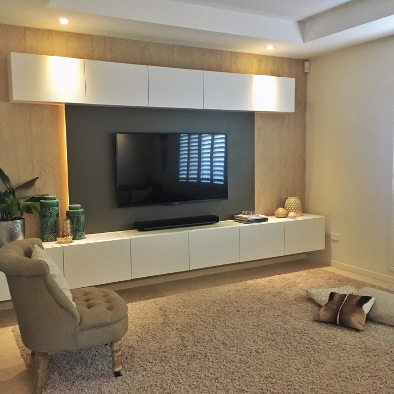 Make This Back-Lit Floating Media Console Using IKEA
