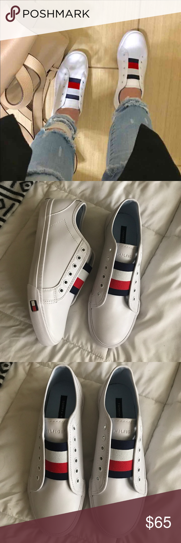 6888e976c96 Ew Tommy Hilfiger sneakers New never worn stylish Tommy Hilfiger sneakers  size 8. PRICE IS FIRM. Free gift with purchase Tommy Hilfiger Shoes Sneakers